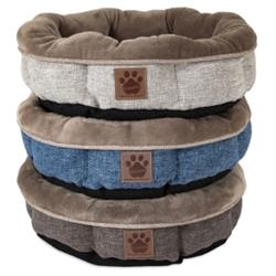 SnooZZy® Rustic Elegance Shearling Round Pet Bed