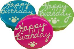 """Birthday Cakes - 4"""" Rolled Oats and Peanut Butter - Assorted Colors"""