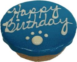 """Birthday Cakes - 4"""" Rolled Oats and Peanut Butter - Blue"""