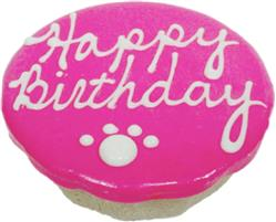 """Birthday Cakes - 4"""" Rolled Oats and Peanut Butter - Pink"""