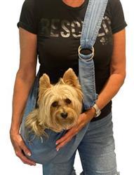 Adjustable Furbaby Sling bag, Denim