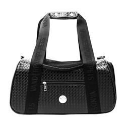 Vanderpump Graphite Duffle Pet Carrier - Black