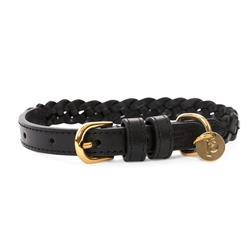 VP Pets Woven Collar Black