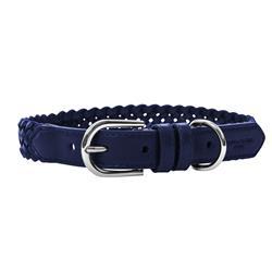 VP Pets Woven Collar Navy Blue