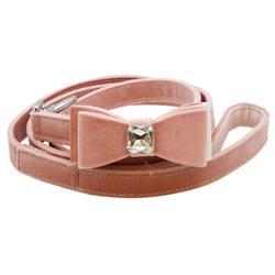 Vanderpump Pets Darling Velvet Diamond Bowtie Pink Leash