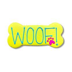 """WOOF! 6"""" Bone Shape Dog Cookie"""