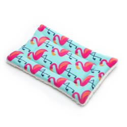 Flamingo Printed Fleece Fabric Flat Pet Bed