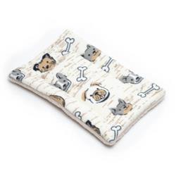 Dog Faces Printed Fleece Fabric Flat Pet Bed