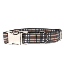 BROWN PLAID - DOG COLLAR
