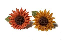 Sunflowers - Velcro Attachable Dog & Cat Collar Felt Flowers
