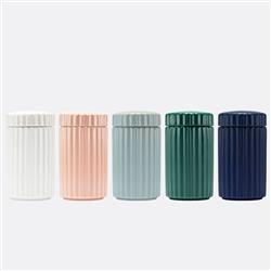 Ripple Ceramic Dog Treat Jar