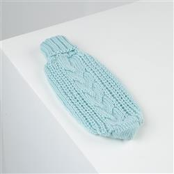 Chunky Cable Knit Mint Alpaca Dog Sweater