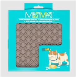 Messy Mutts Dog Lick Mat Silicone Warm Grey Medium