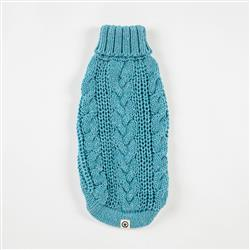 Eco Cable Light Blue Sweater
