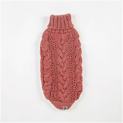 Eco Cable Red Rose Sweater