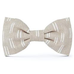 Flax Lines Dog Bow Tie