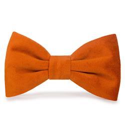 Pumpkin Velvet Dog Bow Tie