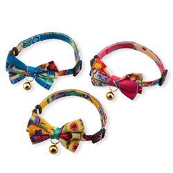 Yukata Bow Tie Cat Collar