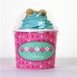 Dog Cupcake | Peanut Butter | Blue