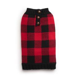 Buffalo Check Henley Sweater