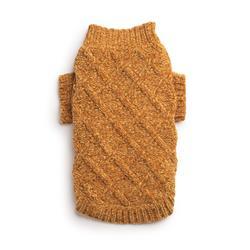 Gold Chenille Mockneck Sweater