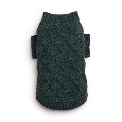 Emerald Chenille Mockneck Sweater