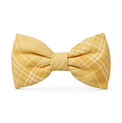 Buttercup Plaid Flannel Dog Bow Tie