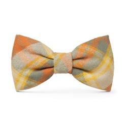 Harvest Plaid Flannel Dog Bow Tie