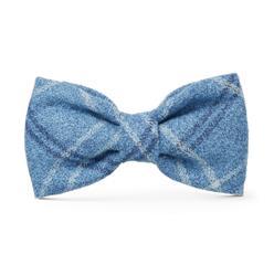 Harbor Plaid Flannel Dog Bow Tie
