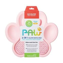 PAW 2-in-1 Slow Feeder & Lick Pad Pink