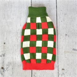 Checker Holiday Sweater