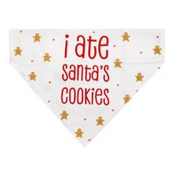 """I Ate Santa's Cookies"" Dog Bandana"