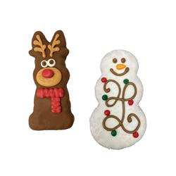 Bosco & Roxy's | Christmas 2021 | Prepackaged Tall Snowman and Reindeer in Merch Box |