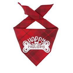 Christmas Bandana|  Red Plaid Flannel | Luxe High Quality Flannel  | Holiday Bandana | Dog Bandana