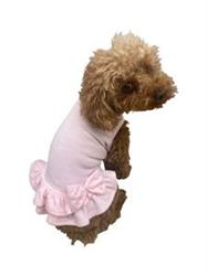 Velour Dress with Pearls and Bow, Pink