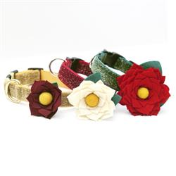 Joy Holiday Dog Collar Flower (3 Colors!)