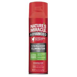 Nature's Miracle Advanced Stain and Odor Foam for Dogs - Aerosol Can 17.5 oz.
