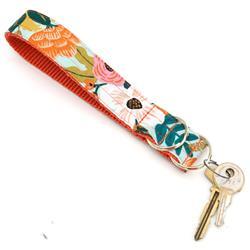 'Lively' Mint Rifle Paper Co Wristlet Key Fob