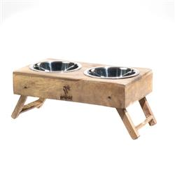 Natural Wood Adjustable Feeders