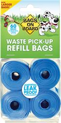 4 Roll Bags on Board Refill Pack (60 bags)