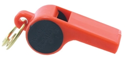 Roy Gonia Training Whistle (w/Black Spot & Pea)- Orange
