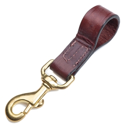 "Leather Belt Snap - Chestnut - 1"" x 4"""