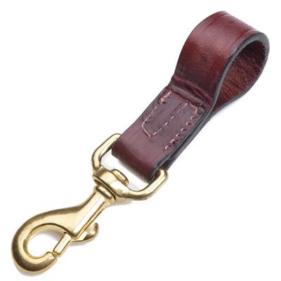 "Leather Belt Snap - Chestnut - 1"" x 4"""