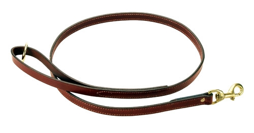 """Snap Lead - (Leather) Chestnut - 3/4"""""""