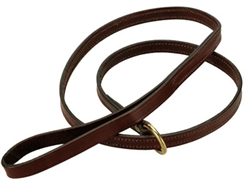 "Slip Lead (Leather) - Chestnut - 5/8"""