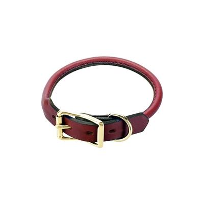 Rolled Standard Collar - Chestnut - 3/4 inch