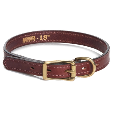 Standard Leather Collars (Narrow & Wide) - Chestnut