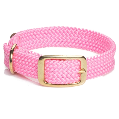 Mendota Double Braid Collar - Brass Hardware