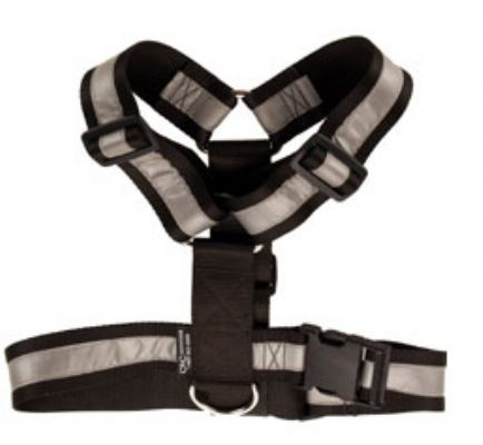 Heavy Duty Tracking Harness - Black - One size