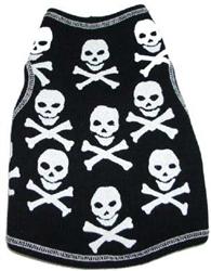 Skull Print Tank in Black
